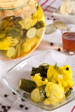 jewish cuisine: Pickled vegetables in the tradition of Jewish cuisine