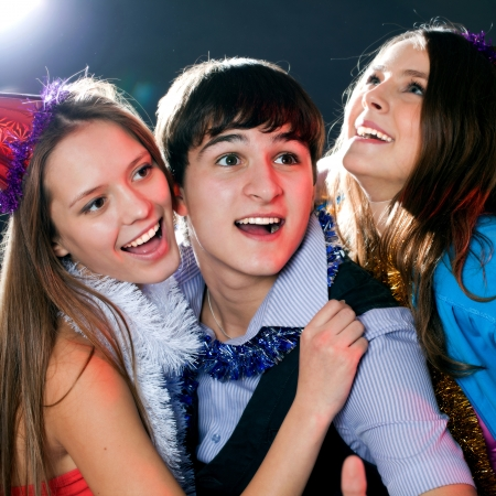 young people have fun greets holiday photo