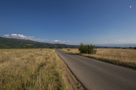 Beautiful Clear Road to Sofia city in Bulgaria
