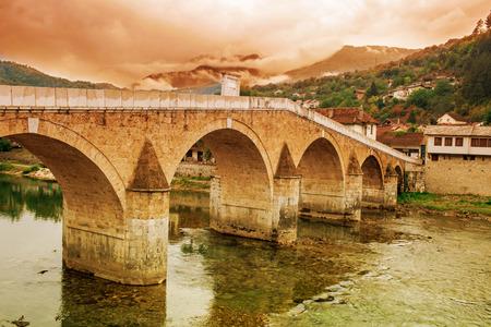 Stara Cuprija Bridge Or Konjic Bridge Over Neretva River An Ottoman Inspired Bridge A Cultural Heritage In Konjic Town Of Bosnia And Herzegovina