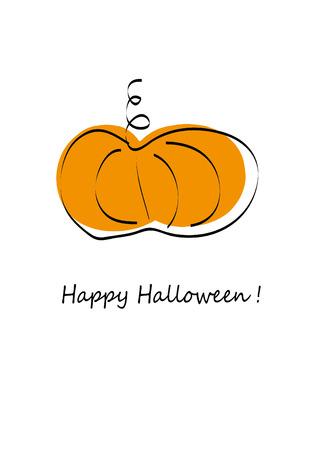 オレンジ色のかぼちゃのイラスト