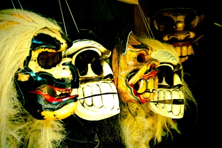 A set of Balinese traditional masks