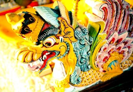 Une statue de dragon hindou à Bali