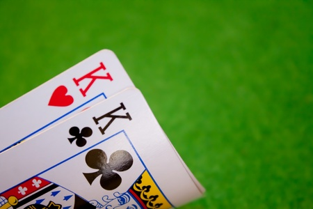 A pair of kings cards Editorial