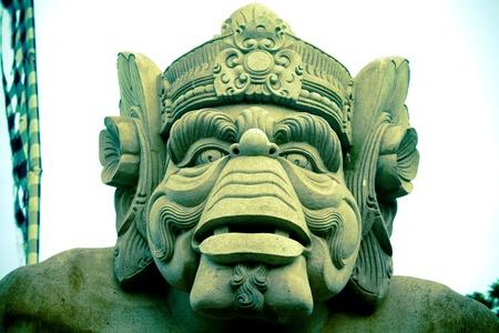 A hindu sculpture representing a big warrior monkey gorilla