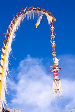Hindu street decoration offering for ceremony Stock Photo