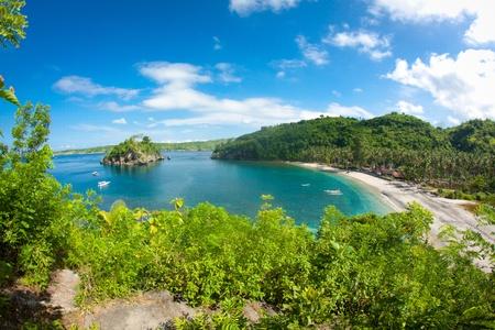 Une vue d'une plage de Bali Banque d'images