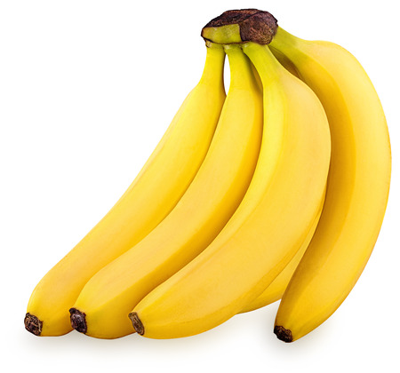 banana skin: Bunch of bananas isolated on white background Clipping Path