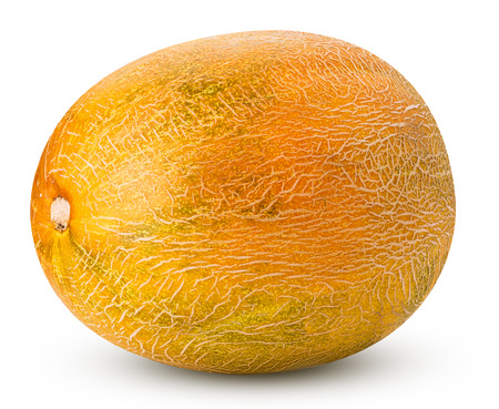 Melon isolated on white background. Clipping Path. Full depth of field.