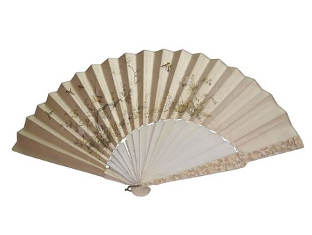 Chinese fan isolated on the white background Stock Photo - 2510448