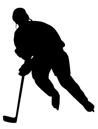 hockey goalie: Hockey Player Silhouette. Please, check out my portfolio for other silhouettes.