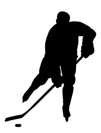 Hockey Player Silhouette. Please, check out my portfolio for other silhouettes.