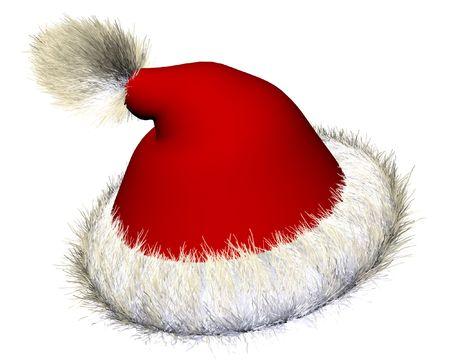 Santa claus hat over white background Stock Photo - 2568116