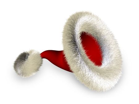 Santa claus hat over white background with shadow Stock Photo - 2568122