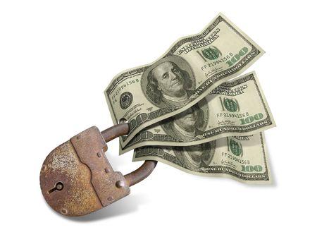 Dollars security isolated on white background Stock Photo - 2732878