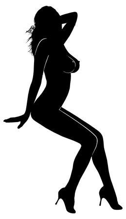 sexuel: Sexual jeune femme avec un grand coeur.