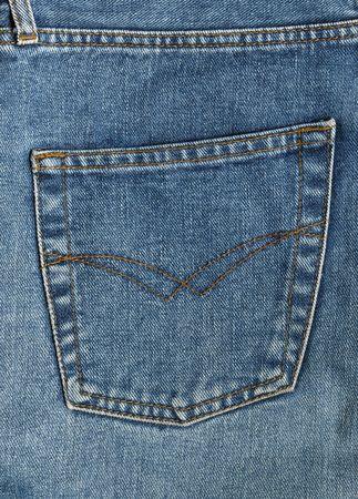 Back pocket of denim jeans