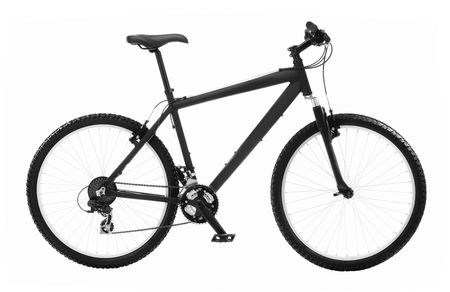 Mountain Bicycle isolated over white background photo
