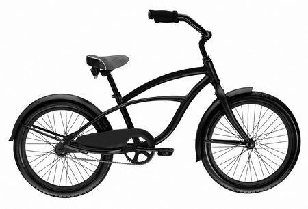Teenager Bicycle isolated over white background photo