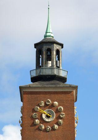 Town hall, Avenue Don Bosco, Woluwe Saint Pierre, Belgium, Brussels. photo