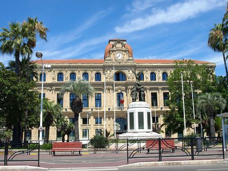 The Hotel de Ville in Cannes, France Stock Photo