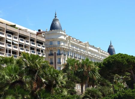 affluence: Luxury Hotel on Croisette promenade in Cannes France.