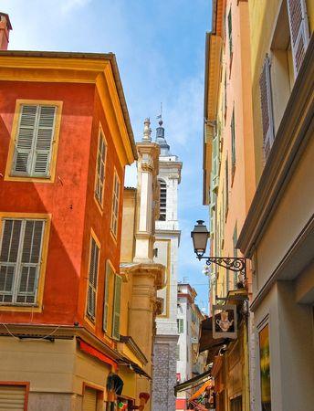 Beautiful street in Nice, France photo