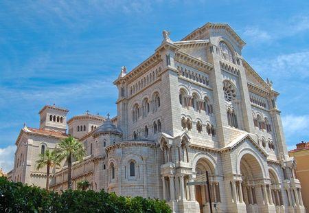 Saint Nicholas Cathedral in Monaco.  Stock Photo