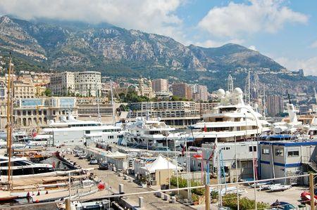 View of Monaco harbour, Monte Carlo photo