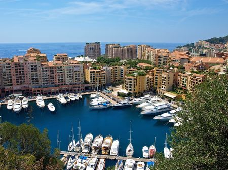 Monte Carlo Marina from Above. Fontvieille, new district of Monaco.