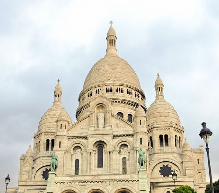 Sacre - Coeur Basilica on hills of Montmartre Paris France Stock Photo - 6860752