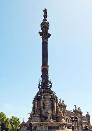 Square of Christopher Colombus. View of the monument. Barcelona, Catalonia, Spain. Stock Photo - 7085219