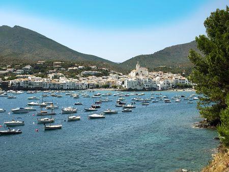 View of village of Cadaques (Costa Brava, Catalonia, Spain)