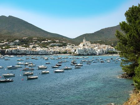 View of village of Cadaques (Costa Brava, Catalonia, Spain)