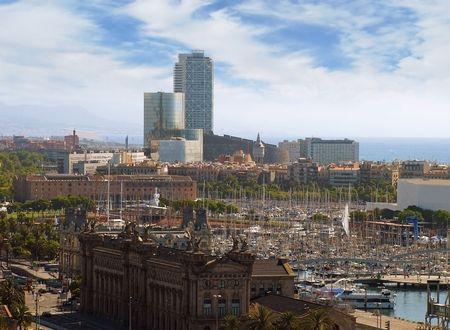 Vista panor�mica de la ciudad de Barcelona, Espa�a.  Foto de archivo - 8179611
