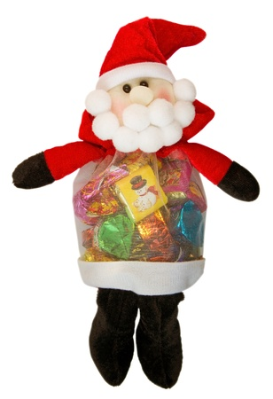 Santa Claus doll with chocolate sweets inside. Stock Photo - 8714485