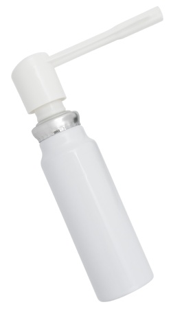 Asthma inhaler isolated on white background  photo