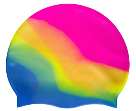 Swimming cap isolated on white background. Clipping path included.