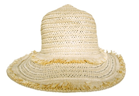 Woman's straw hat isolated on white background. Clipping path included. Stock Photo - 9160725