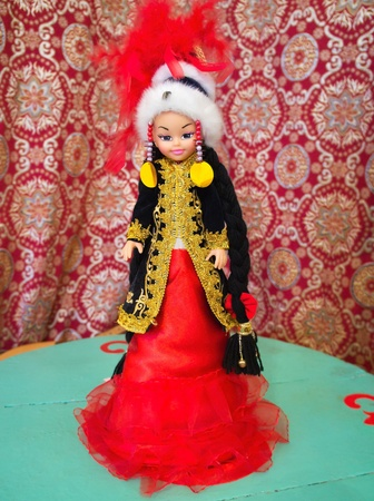 National Kazakh souvenir - Asian doll in national dress Stock Photo - 11426491