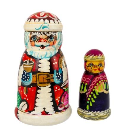 nested: Russian dolls - Matryoshka isolated on white.
