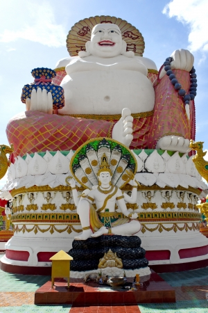 Smiling Big Buddha of wealth statue on Koh Samui, Thailand photo