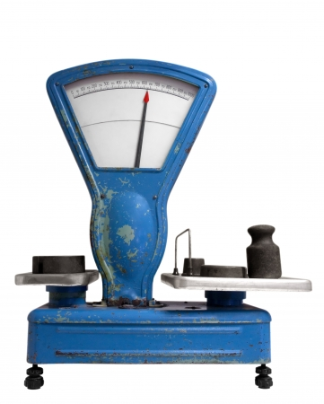 antique weight scale: Vintage old weight scale.  Stock Photo