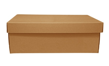 Cardboard box isolated on white background. Clipping path included. photo