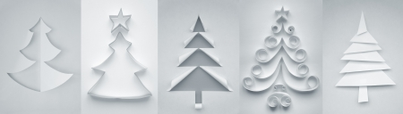 Christmas trees made of paper for your design Stock Photo - 16815653