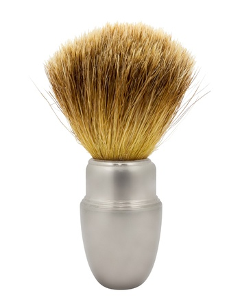 Shaving brush isolated on a white background Stock Photo - 17956413