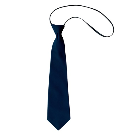 Blue necktie, isolated on white background. Clipping path included. Stock Photo - 18167346