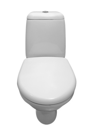 White ceramic toilet isolated on a white background. Clipping path.  photo