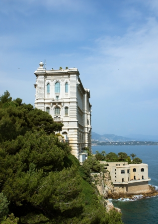 oceanographic: View of Oceanographic Museum of Monte Carlo, Monaco.