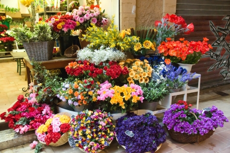 Outdoor flower market in Nice, France